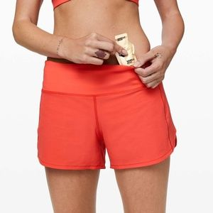 "Lululemon Speed Up Short Long 4"" Updated Fit Hot 6"